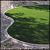 Synthetic grass and artificial lawns are far more than a big block of nylon turf. Beautiful shapes and elegant undulations can be crafted in to give your yard the artistic curb appeal that adds to your home's real estate value and unique character.